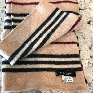 BURBERRY PLAID, WOOL SCARF